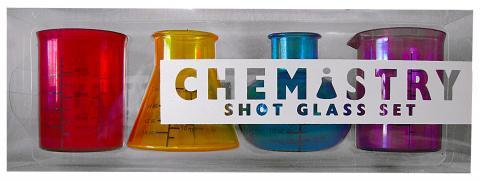 Chemistry Shot Glass Set Package