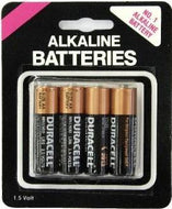 Duracell AA Batteries 4 Pack Carded