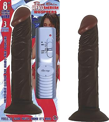 "Real Skin American Whoppers 8"" Vibrating"