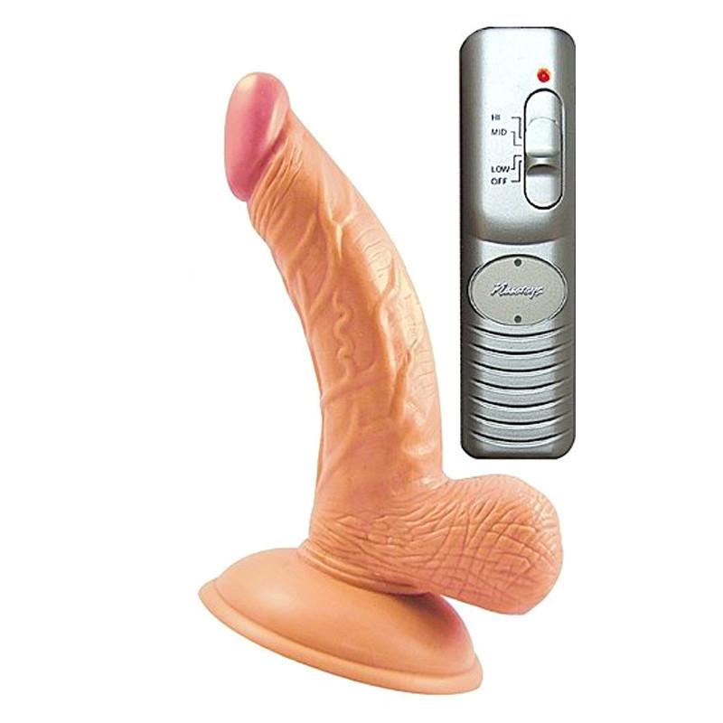 All American Mini Whoppers Curved Vibrating Suction Cup 4 Inch Dildo