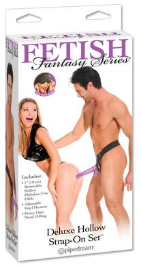 Fetish Fantasy Deluxe 6 Inch Men's Hollow Strap On Set - Box