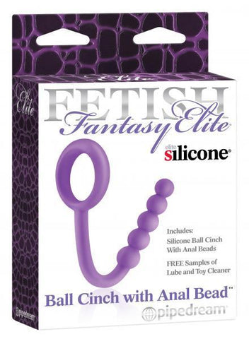 Fetish Fantasy Elite Silicone Ball Cinch with Anal Beads - Box