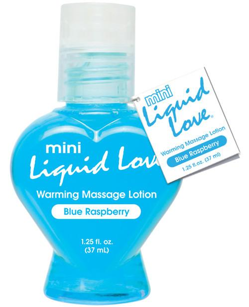 Liquid Love 1.25 oz. Warming Massage Lotion Blue Raspberry