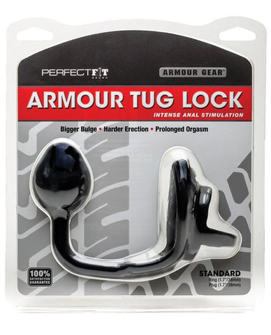 Perfect Fit Armour Tug Lock Cock Ring and Butt Plug - Package