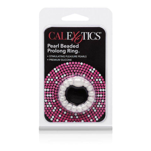 Pearl Bead Prolong Cock Enhancer Ring - White Package