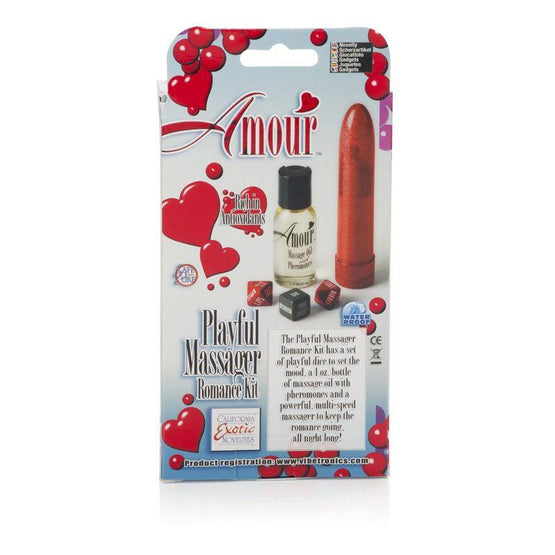 Amour Playful Massager Romance Kit Box - Back