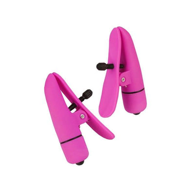 Nipplettes Vibrating Nipple Clamps Pink