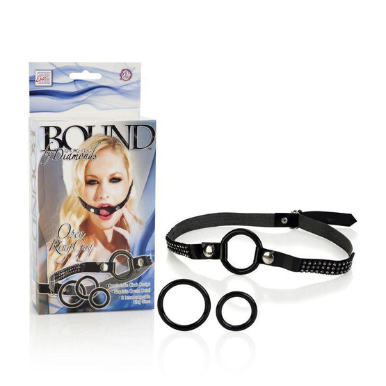 Bound by Diamonds Open Ring Gag Package