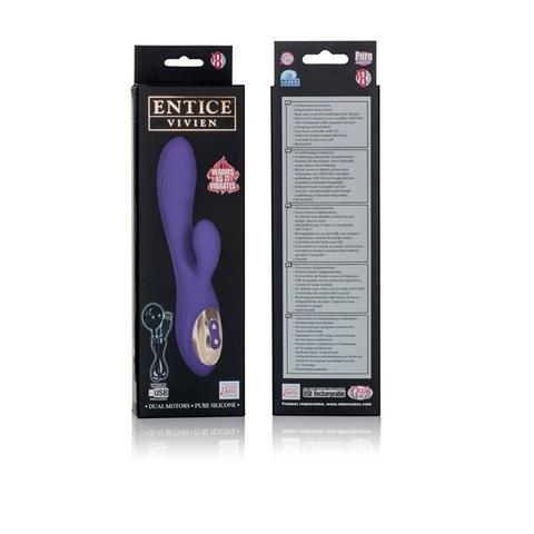 Entice Vivien Warming Silicone Vibe Purple Package