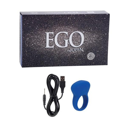 Jopen EGO 2 Rechargeable Vibrating Couple's Cock Ring with Box