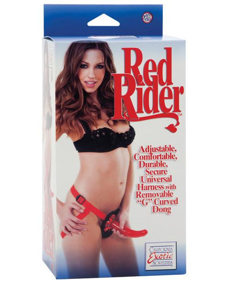 Sophia's Red Rider Harness & G-Spot Strap On - Box