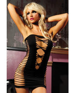 Seamless Tube Dress with Cut Outs on Sides
