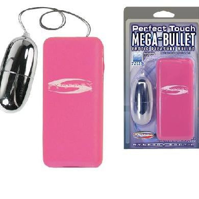 Perfect Touch Mega-Bullet Vibrator Pink Package