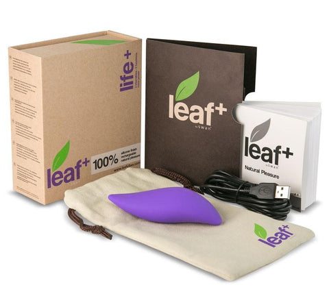 Life+ by Leaf Luxury Eco-Friendly Clitoral Vibrator - Whole Package