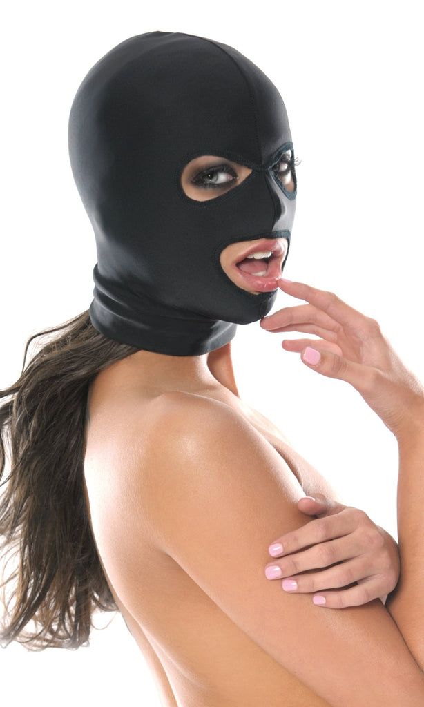 Fetish Fantasy Series Spandex 3 Hole Hood In Model
