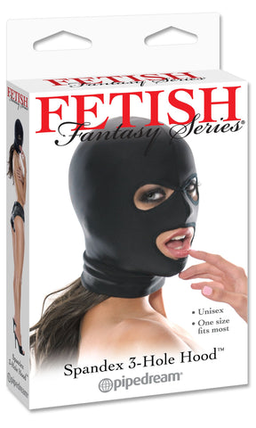 Fetish Fantasy Series Spandex 3 Hole Hood Package