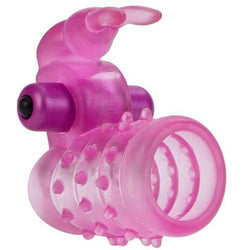Stretchy Vibrating Bunny Enhancer Cock Ring