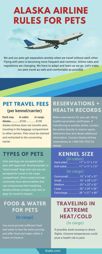 Alaska Airline rules for traveling with Pets