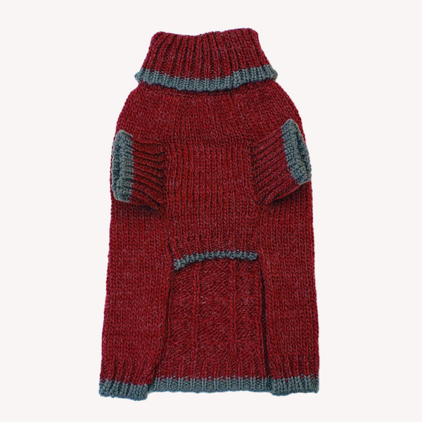 Winter is delightful for your pup or kitty in this Soft, Luxurious and well-made Norwegian-style Wool Blend Dog Cat Sweater in Burgundy. Keeps your dog, cat or other pet warm and stylish this holiday season and throughout the year. Comfortable and super cozy fit.