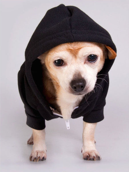 PUPPY AT HEART - Dog's Fleece Zip Hoodie in Three Colors