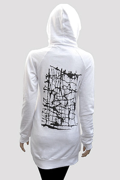 Pullover Hoodie Dress with Abstract Design