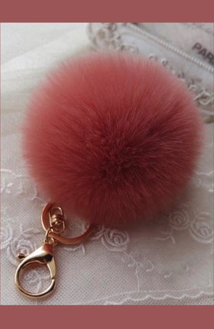 Pom Pom Keychain in Six Colors