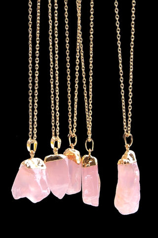 Genuine Quartz Pendant Necklace