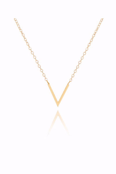 V Shape Necklace in Two Colors