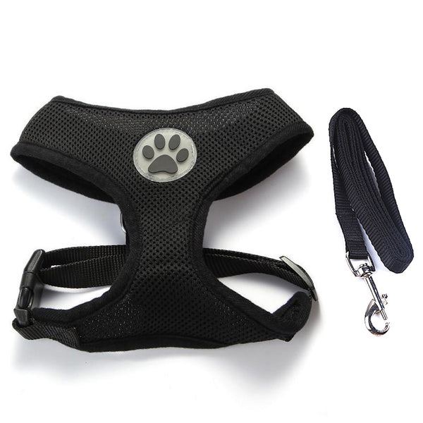 Extra soft and comfortable Vest Harness and Leash Set for Small Dog or Cat is made to distribute the pressure through the chest and shoulders, not on the neck.