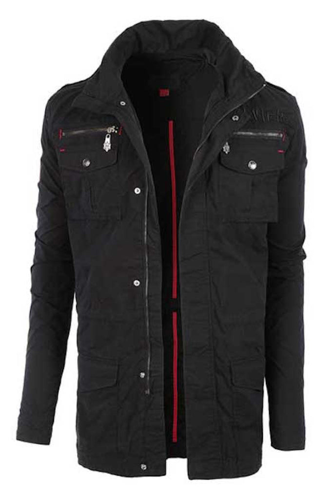 Large & Tall Men's Zip Up Hooded Jacket