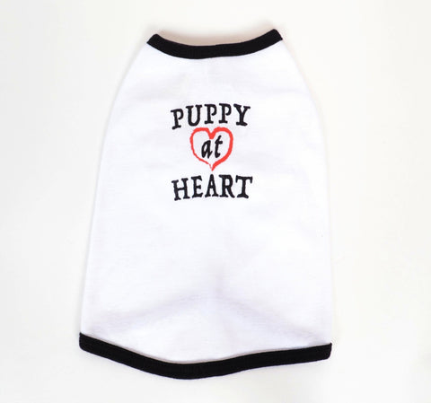 PUPPY AT HEART - Dog's Cotton T-shirt