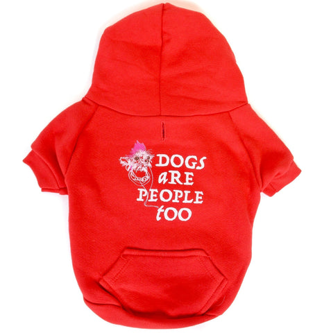 DOGS ARE PEOPLE TOO - Dog's Fleece Zip Hoodie