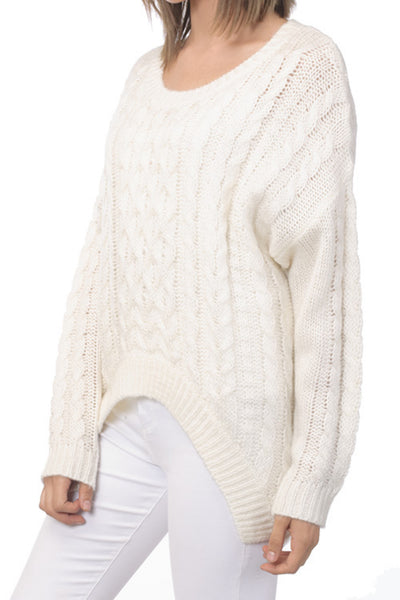 Luxurious Cable Knit Braids Sweater