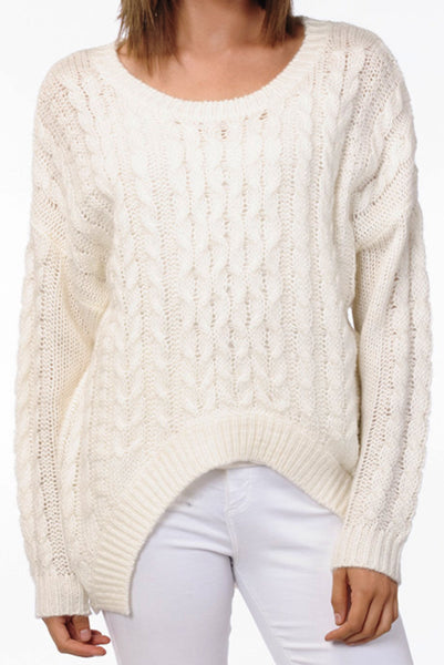 Luxurious Cable-Knit Sweater