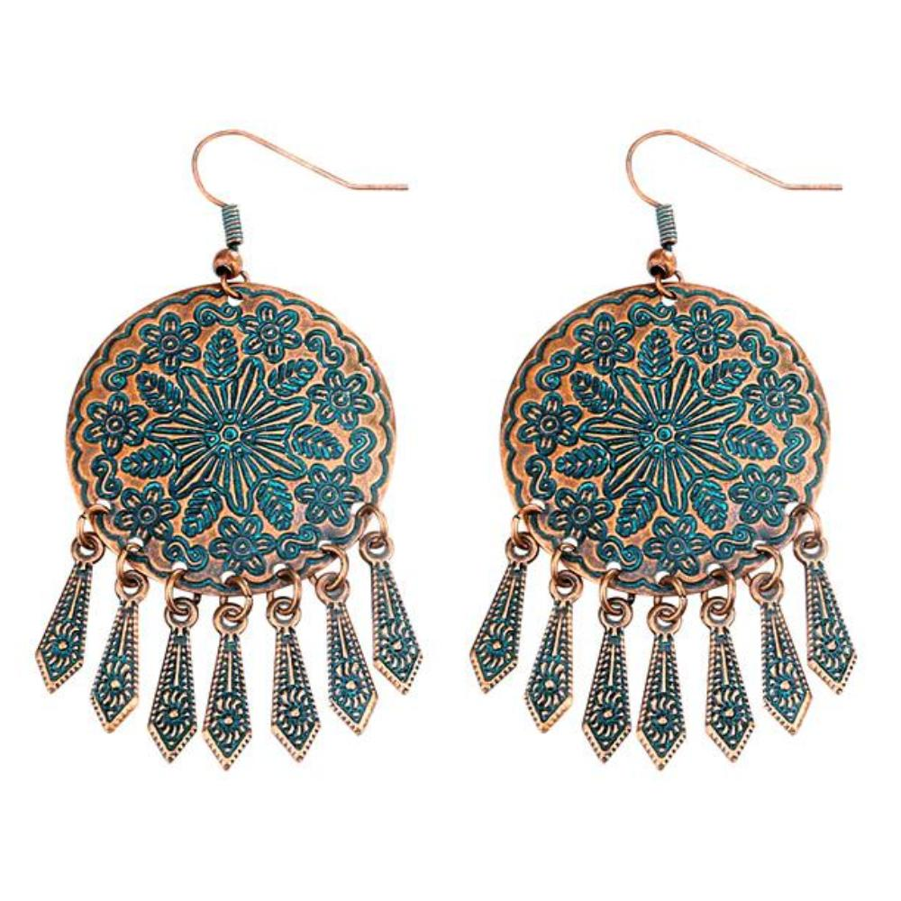 Bohemian Style Round Drop Earrings