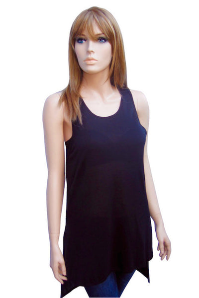 Silky Tank with Side Slits in Two Colors
