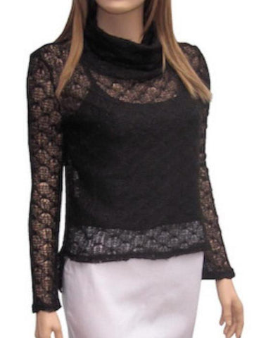 Cropped Front Lace Sweater