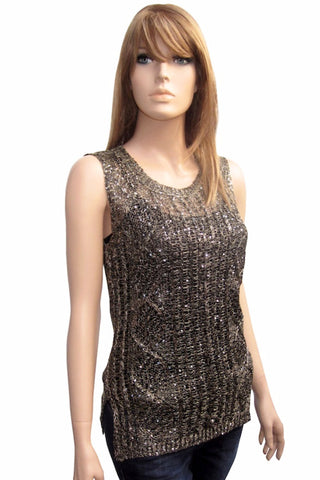 Shimmer Sequin Sleevless Top