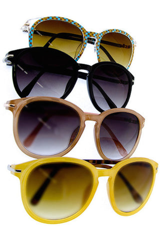 Round Frame Sunglasses in Two Colors