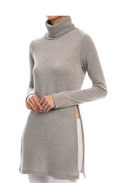 Split Side Knit Top in Two Colors