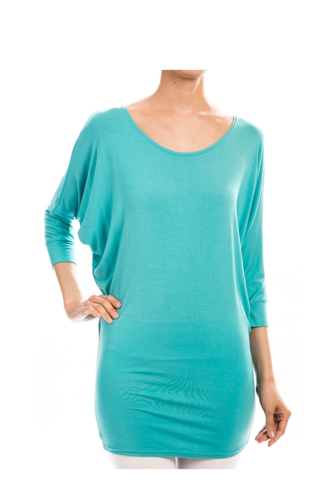 Soft Dolman Sleeve Tunic Top