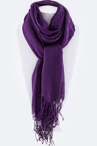 Soft Fringe Scarf in Three Colors