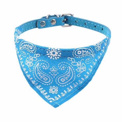 Adjustable Pet Bandana Scarf Collar in Six Colors