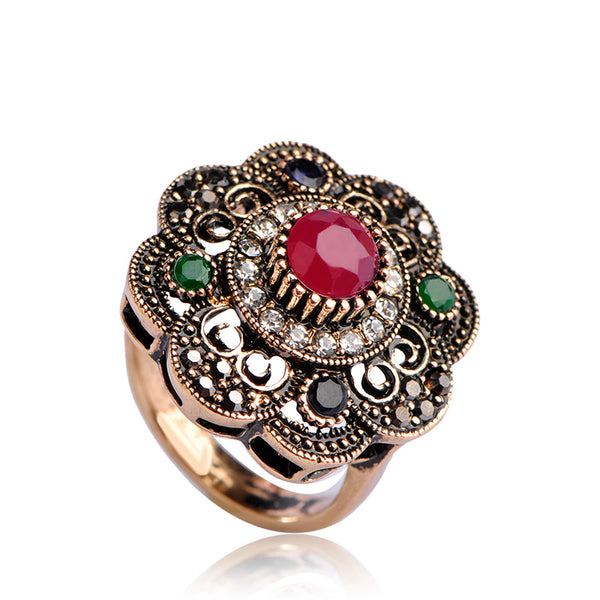 Bohemian Vintage Flower Style Ring