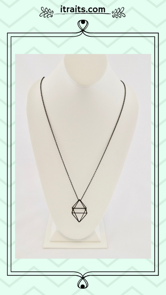 """The Minimalist Look"" - 3-D Rhombus Shape Geometric Necklace"
