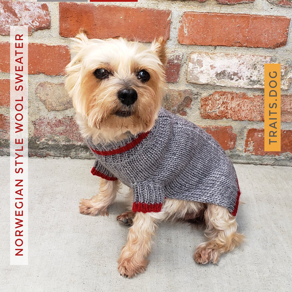 Winter is delightful for your pup or kitty in this Soft, Luxurious and well-made Norwegian-style Wool Blend Dog Cat Sweater in Grey. Keeps your dog, cat or other pet warm and stylish this holiday season and throughout the year. Comfortable and super cozy fit.