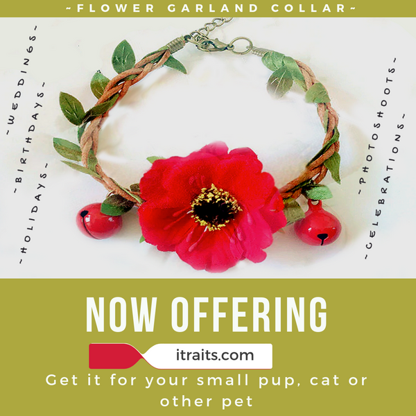 Wedding Dog Cat Pet Flower Garland Collar