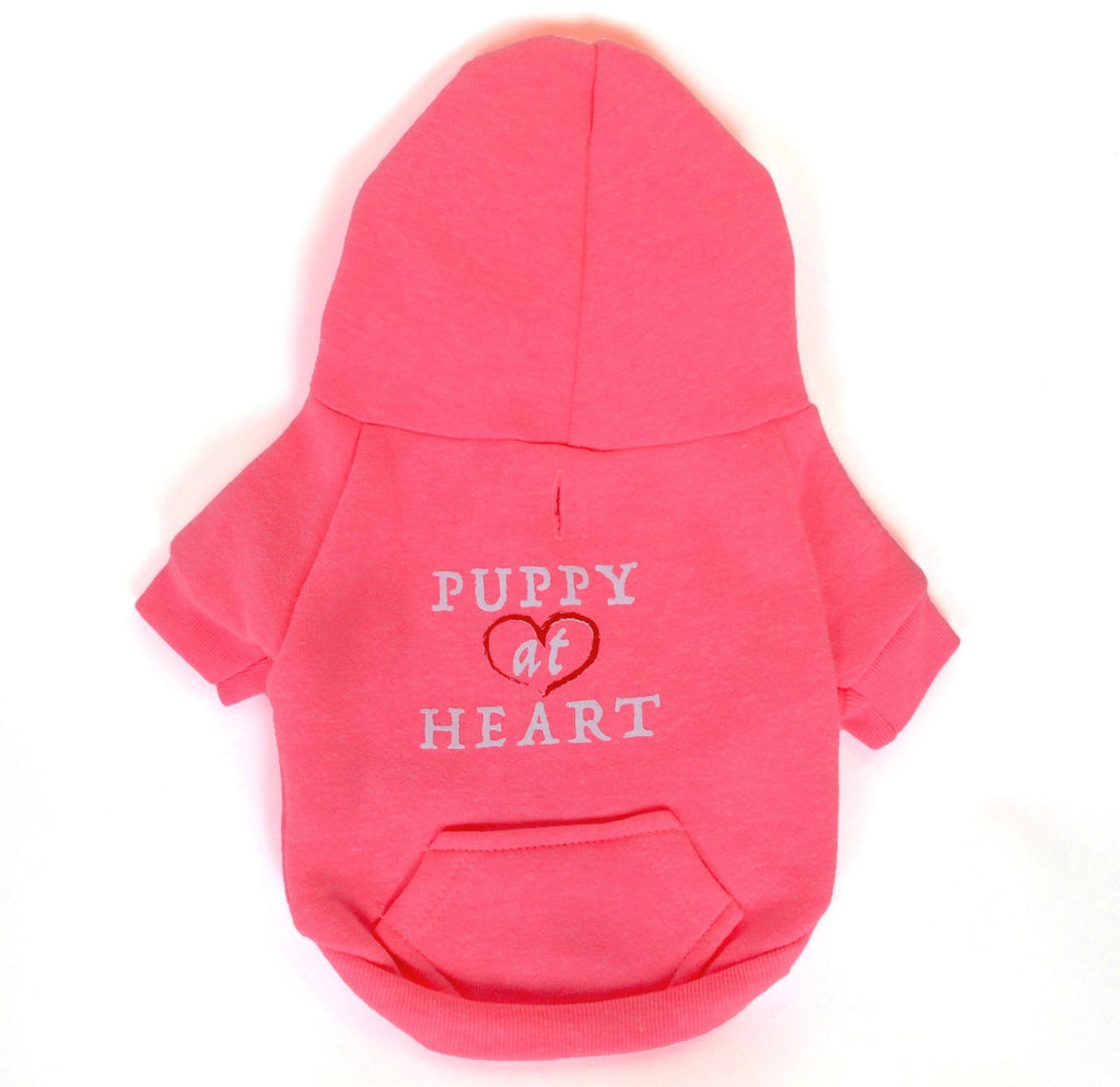 PUPPY AT HEART - Dog's Fleece Zip Hoodie