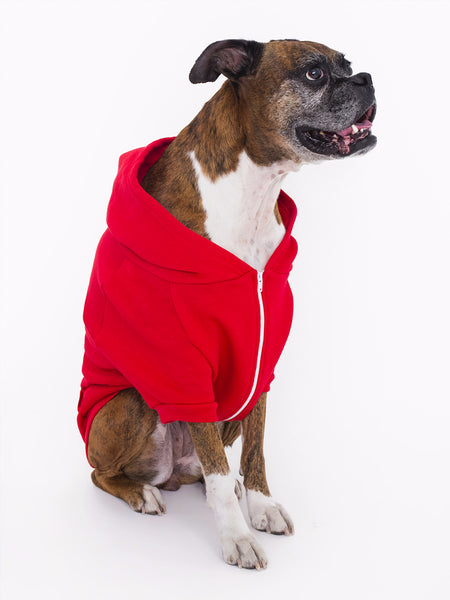DOGS ARE PEOPLE TOO - Dog's Fleece Zip Hoodie in Two Colors