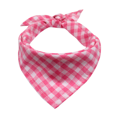 Rose Pink Plaid Dog or Cat Bandana Scarf for Small Breeds. A charming neckwear for your dear pup or kitty. Get a cuteness overload of your pet in this adorable neckwear and take lots of photos.